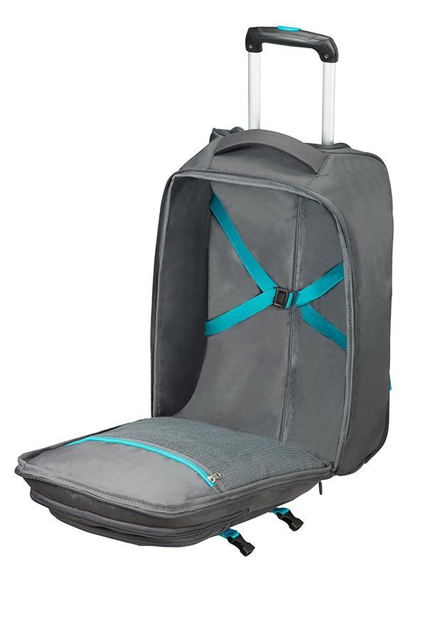 road quest laptop rucksack mit rollen grey turquoise. Black Bedroom Furniture Sets. Home Design Ideas